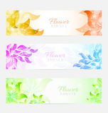 Floral banners Royalty Free Stock Image