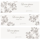Floral banners retro style. Stock Photos