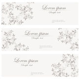 Floral banners retro style. Stock Photography