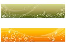 Floral Banners Set Stock Photo