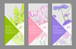 Floral banners set Stock Images