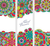 Floral banners set. Vector illustration Stock Photography