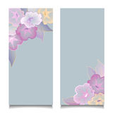 Floral Banners Transparent Flowers Royalty Free Stock Image