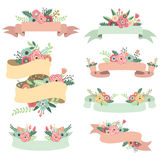 Floral Banners. A Vector Illustration of Floral Banners Royalty Free Stock Photos