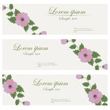 Floral banners vector retro style. Stock Image