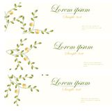 Floral banners vector retro style. Stock Images
