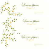 Floral banners vector retro style. Royalty Free Stock Image