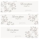 Floral banners vector retro style. Royalty Free Stock Photography