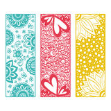 Floral banners zentangle Stock Photos