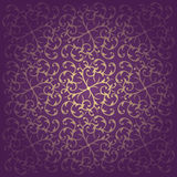 Floral baroque purple background vector Stock Image
