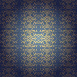 Floral baroque seamless background Royalty Free Stock Images