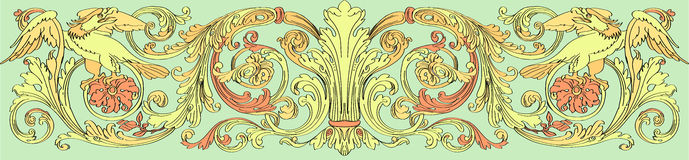 Floral Baroque style Stock Image