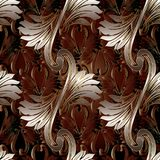 Luxury Baroque seamless pattern with shadows Stock Image