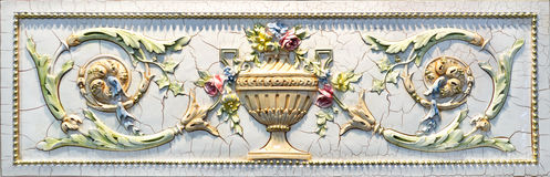 Bas relief detail. Floral bas relief detail close up Stock Image