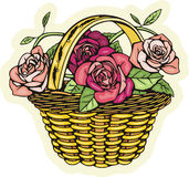 Floral basket Royalty Free Stock Photos