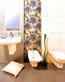 Floral bathroom Stock Image