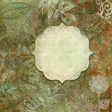 Floral batik frame Stock Photo