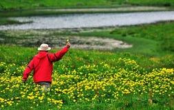 Floral baton Stock Photos
