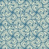 Floral beautiful blue seamless pattern. Stock Images