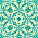 Floral beautiful green and yellow symmetrical repeating pattern. For textile, fabric, backgrounds, backdrops, wallpaper and surface designs. pattern swatch at stock illustration