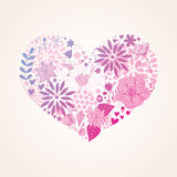 Floral beautiful heart Stock Image