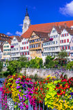 Floral beautiful town Tubingen - Germany & x28;Baden-Wurttemberg& x29; Royalty Free Stock Photos