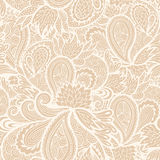 Floral beige background,  endless texture Stock Photo