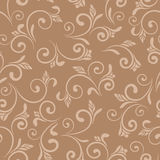 Floral beige brown abstract seamless pattern background illustration Stock Photo