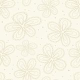 Floral Beige Faded Seamless Pattern Stock Images