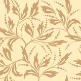 Floral beige seamless vector texture Stock Photo