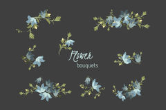 Floral bellflower  retro vintage background Royalty Free Stock Photography