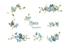 Floral bellflower retro vintage background Royalty Free Stock Photo