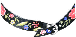 Floral belt Royalty Free Stock Photography
