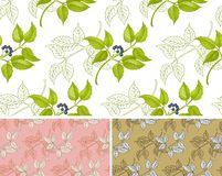Floral-berry pattern Stock Image
