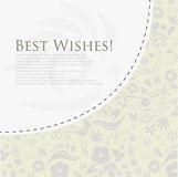 Floral best wishes greeting card. (Vector Eps10 Royalty Free Stock Images
