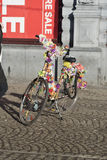 Floral bicycle Amsterdam Royalty Free Stock Photo