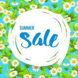 Floral big summer sale Royalty Free Stock Images