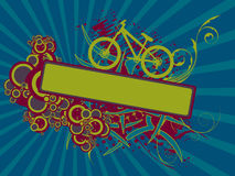 Floral bike banner Stock Photography