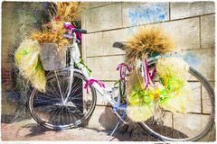 floral bike Royalty Free Stock Images