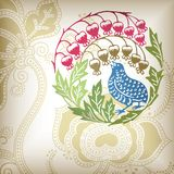 Floral and Bird 1-3 Royalty Free Stock Image