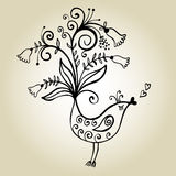 Floral bird Royalty Free Stock Images