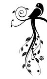 Floral bird. Minimalist bird with floral elements Royalty Free Stock Images