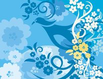 Floral Bird Background Series Stock Photo