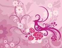 Free Floral Bird Background Series Stock Photography - 1049862