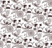 Floral and Bird Pattern Royalty Free Stock Photography