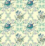 Floral and Bird Pattern Royalty Free Stock Image