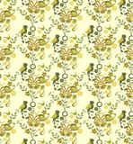 Floral and Bird Pattern Stock Photo