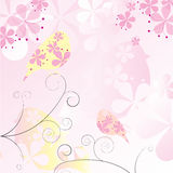 Floral Birds Background Stock Image