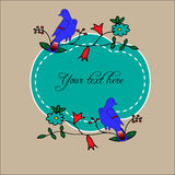 Floral and birds design variations for cards, posters, invitations. Royalty Free Stock Images