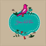 Floral and birds design variations for cards, posters, invitations. Royalty Free Stock Photos